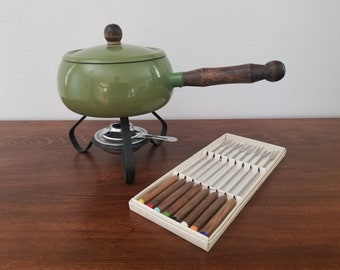Vintage Fondue Pot - Avocado Green