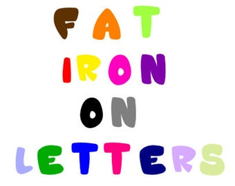 Iron On Individual Single Letters, Alphabet Applique, Fat Fabric Letters, Education Applique Craft Fonts and Scrapbooking Supplies, DIY Gift