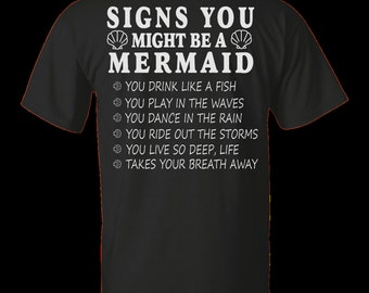Signs you might be a mermaid shirt