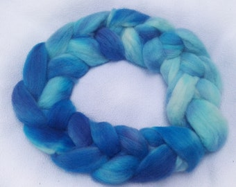 Cornish Coast- Hand Dyed 100% Wool Roving. Perfect for Spinning or Felting. *MADE TO ORDER*