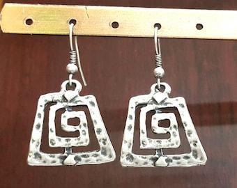 Silver Tribal Earrings, Boho Jewelry, Boho, Gypsy Earrings, Gift Jewelry, Gypsy Earrings, Bohemian earrings, Hippie Earrings,  Handmade