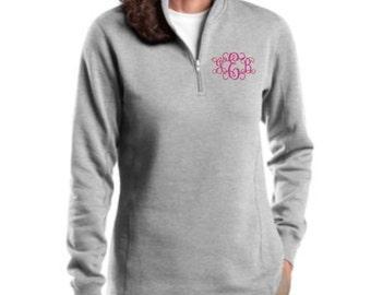 Monogram Sweatshirt, Zip Sweatshirt, Personalized, Preppy, Monogram Gift, Bridesmaid Gift, Monogram Pullover, Half Zip Sweatshirt