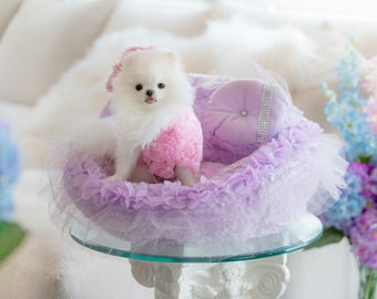 Luxury Pet Car Seat - Enchanted Pets Fairy Princess Collection - Lillac Purple Portable Car & Plane Seat Bed for Dogs, Puppies, Cats, Pets!