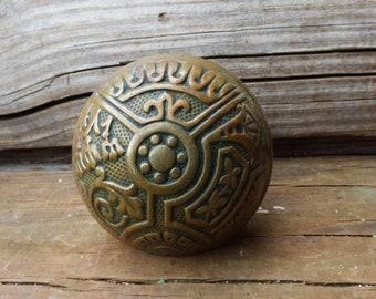 Antique door knob Corbin Ceylon pattern ornate Restoration door hardware Eastlake era salvage