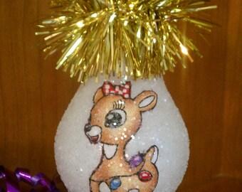 Clarisse  keepsake light bulb ornament