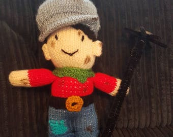 A Knitted Chimney Sweep Boy