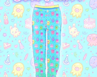 """Blue """"OctoParty"""" Joggers Sweatpants"""