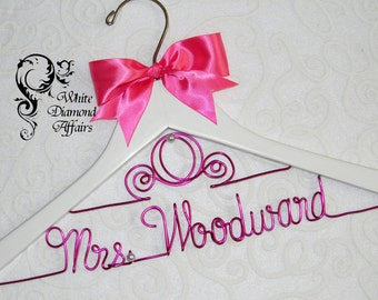 Cinderella Fairytale Coach Wedding Dress Hanger, Personalized Disney Princess Carriage Themed Bridal Hanger, Wire Name Hanger, Bridal Gift