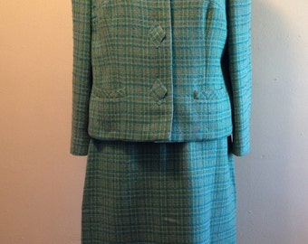 Blue/Green vintage suit