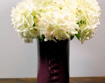 Large Purple Vase Handmade Stoneware Pottery