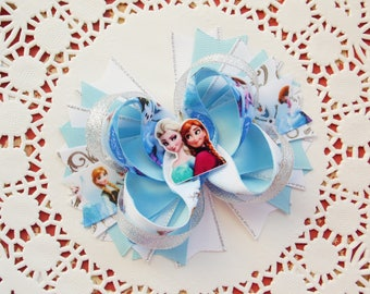 Fairytale Gift Christmas Gift Frozen Bow Elsa Boutique Bow Frozen Party Frozen Birthday Elsa Anna Bows Girls Disney Bows Disney Princess Bow