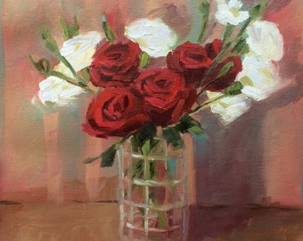 Red Roses Painting • Oil Painting • Original Art • Oil Painting • Daily Painter • Daily Painting • Red Roses