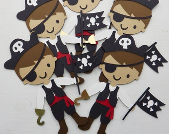 Pirate Decorations, Pirate Favor Tags, Pirate Cupcake Toppers, Pirate Centerpieces, Pirate Favor Tags