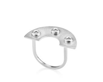 Carmen Ring, fashion rings, minimalist silver ring, geometric silver ring, unique rings for her, contourstudio, womens rings