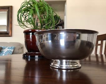 Reed and Barton 9 inch 105 Silver Plated Paul Revere Bowl Reproduction
