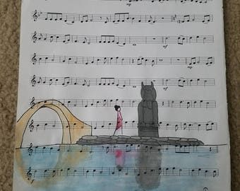 Sheet Music Painting ~ Mulan