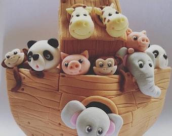 Large Noahs Ark cake  topper - birthday party