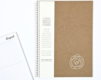 2018 / 2019 Academic Planner | Weekly & Monthly Planner | LARGE | 12 Months | Eco-Friendly Agenda