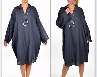 Smart and sassy, Ultimate Designer Dress, Lagenlook Dress, Oversize Dress, Plus Size Dress, One Size Dress, Quirky Dress,