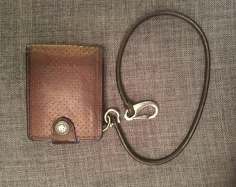 Round Leather Key or Wallet Lanyard/Chain, With A4 Marine Grade Steel or Brass Fittings. WALLET NOT INCLUDED