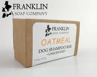 All Natural Dog Shampoo Bar I Oatmeal Dog Soap