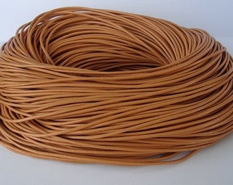 15ft- Navajo Genuine Leather Cord Round   2mm