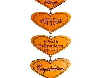 8th Anniversary Gift - Gifts for Anniversary - Personalized Gifts for Couples - 8 Years Bronze Anniversary Gift for Couple - Plaque