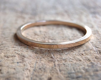 Square Gold Ring Band, Square Ring, 14K Gold Fill Ring, Gold Stackable Ring, Skinny Ring, Bohemian Ring, Bohemian Jewelry