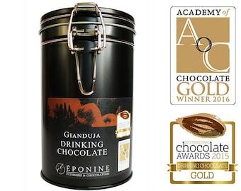 Luxury Hazelnut Hot Chocolate - Gianduja Hot Chocolate - Multi award-winning hazelnut drinking chocolate