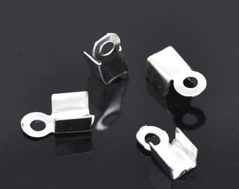 ATTACHED cord RIBBONS 9 X 4 mm color silver 30 x 30