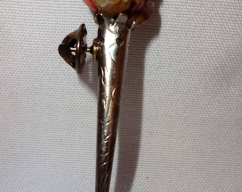 Vintage Pin with Rose
