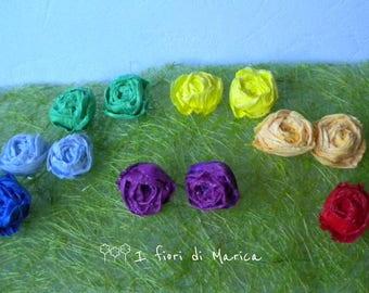 Paper Rose studs