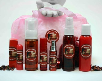 BRIDAL RED ROSE Spa Gift| (6) Organic Body Products | Bridesmaid Gifts | Birthday | Spa & Relaxation | Spa Kits and Gifts| Now on Sale!