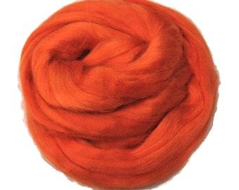 Viscose Fiber for felting ,spinning, paper making and art batts . color: Marigold