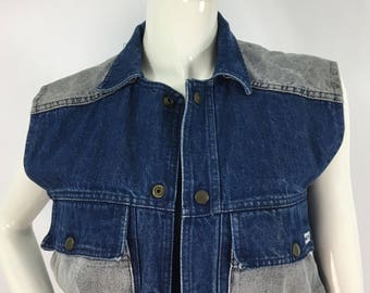 80s Palmetto's jean vest, 1980s jean vest