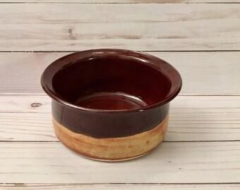 Handmade French Onion soup bowl , Brie Baker, Dip or Cheeseball server