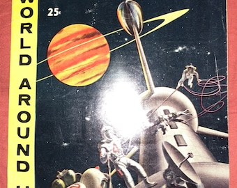 Vintage Illustrated Story of Space 1959 World Around Us Classic Illustrated Comics