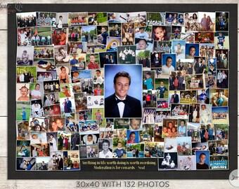 GRADUATION PHOTO Collage, Graduation Gift, Graduation Party Decoration
