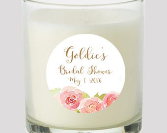 """Bridal Shower 2"""" Favor labels Great for personalizing your events Wedding Bridal Shower Candles cupcake toppers Mason Jar decals Stickers"""