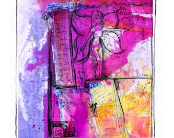Painted Prayer No. 6 ...  art archival Spiritual print from original painting by Kathy Morton Stanion EBSQ