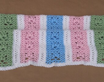 Multi Coloured Baby Blanket/Afghan Handmade Crochet