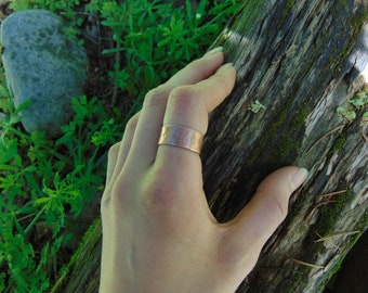Handmade, Hand Hammered Thick Copper Band Ring