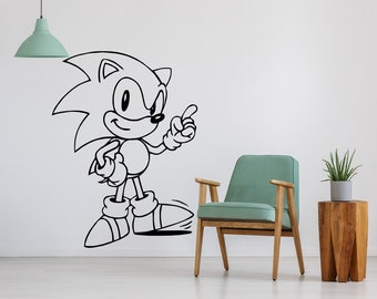 Sonic The Hedgehog, Sonic, Decal, Sega, Nintendo, Video Game Art, Video Game Decor, Video Game Posters, Gaming Art, Gamer Gift, Gaming Decor