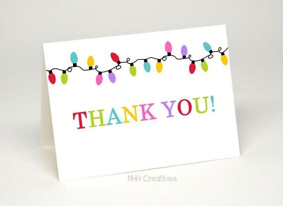 Printable thank you cards christmas vatozozdevelopment printable thank you cards christmas items similar to christmas lights thank you card diy printable m4hsunfo