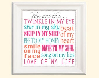 You are the twinkle in my eye *Charming nursery print*