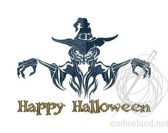 Witch Warlock - Machine Embroidery Design - Instant Download - Two sizes