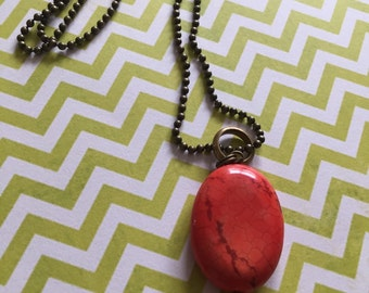 Fire & Flame - Pendant and Chain Necklace