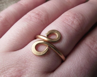 Copper Aluminum Jewelry Wire Wrap Adjustable Ring Handmade -'Infinity'-