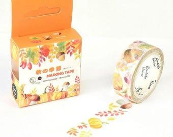 Autumn Harvest Washi Tape Pumpkins Autumnal