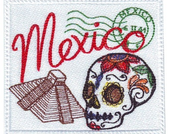Mexico Stamp Embroidered Patch